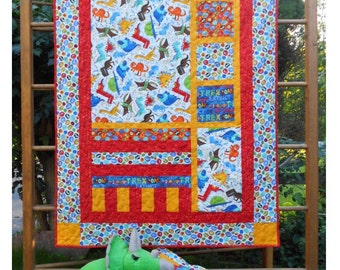 Baby Quilt Pattern -  Forest Frolic - HARD COPY VERSION -  Crib Size with Pillow