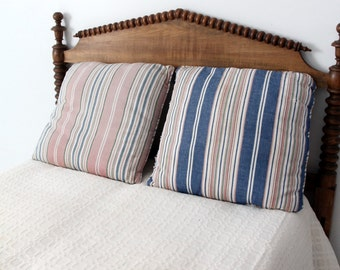 vintage striped pillows, large canvas cushion covers