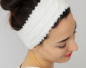 HEADBAND Ivory Headband Winter Headband Fashion Headband Ear Warmer   Boho Head Wrap, Fabric Hair Wrap, Fashion Hair Accessories