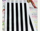 XOXO SALE Black Stripe Party  Bags Medium, Black Stripe Wedding Candy Bag, Black Favor Bag,  Black Gift, Treat Bag, Black Candy Bags - 100 c