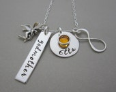 Personalized Godmother Gift - Fairy Godmother Necklace - Hand Stamped Jewelry - Personalized Necklace -  Family Necklace - Baptism - Gift