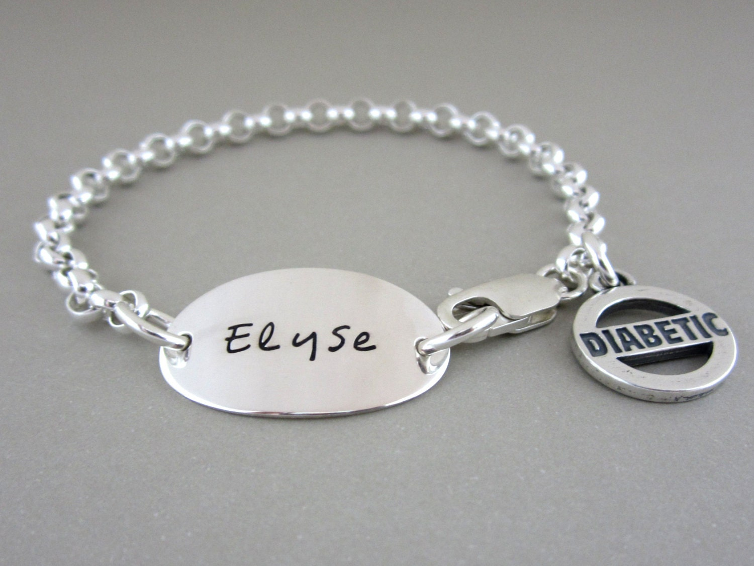 jewelry sterling silver bracelet id alert by