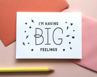 Big Feelings / Valentine's Day / Single Letterpress Card