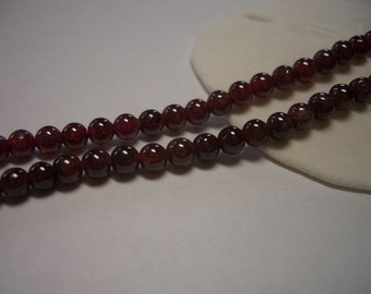 Natural Garnet beads, 3mm round beads, ruby, red, 3mm beads, natural gemstone beads, full strand, red garnet, 3mm gemstone beads, gemstone