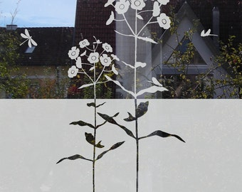Flower Window Privacy Film Decal for Front Door Etched Glass Frosted Glass Film Floral Glass Decal Window Privacy