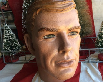 He's A Dapper Gent For Sure Vintage Molded Hair Male Mannequin