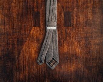 Espresso Chambray Skinny Tie