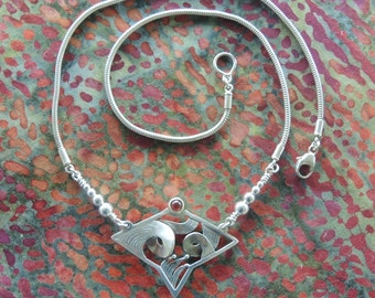 Turbulent Sea Necklace in sterling silver