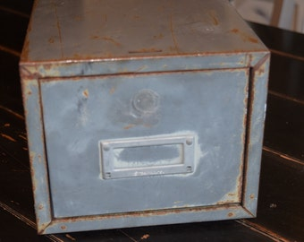 Industrial Metal Storage Cabinet/ Index Card Cabinet/  Drawer Storage/File Cabinent