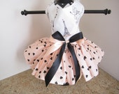 Dog Dress XS Paris with hearts By Nina's Couture Closet