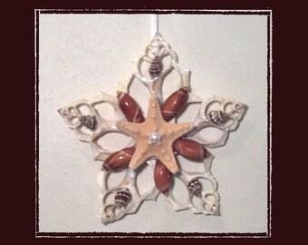"Sea Shell Keepsake Ornament Accent #66 (Size 5.5""), Beach/Nautical/Coastal Decor, Keepsake Ornament/Wall Accent"