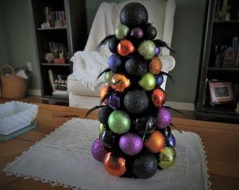 "HALLOWEEN TABLE Top TREE 14"" Ornament Tree"
