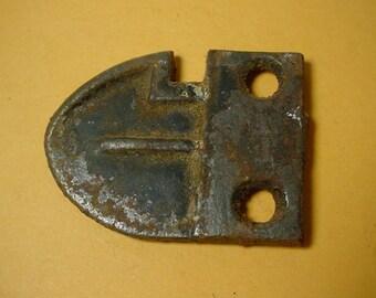 Antique Door Latch Keep Cast Iron Door Part Early Vintage 1800s