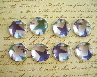 Small Purple Green Thumbtack Push Pins, Small Round Glass Notice Board Pins, Push Pins