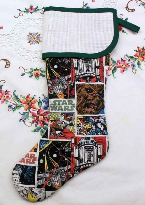Star Wars Stitchable Quilted Cross stitch Christmas Stocking