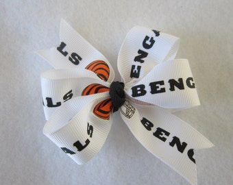 Bengals hair bow