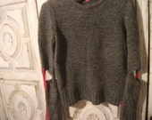 reserved for Nancy, vintage GRUNGE SWEATER, Miss Sixty, grey, cutouts, punk. Italian