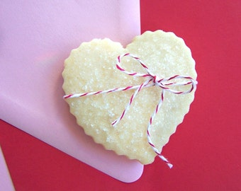 Box of Hearts 1 Dozen Shortbread Cookie's - You Choose Flavor - Valentine's Day Gift