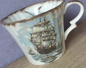 Vintage Royal Standard Sailing Ship teacup ONLY , Nautical gift for dad, Coffee cup, English tea cup, bone china teacup, Clipper ship cup