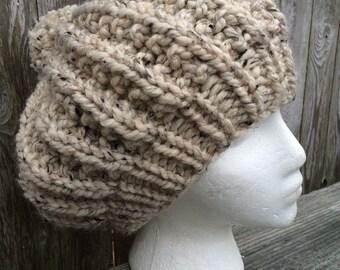 Pom-pom Hat, Slouchy Hat, Chunky Knit Hat, Womens Gift