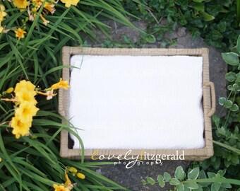 DIGITAL Prop Backdrop - Basket in Flowers - Instant Download Newborn Prop Backdrop Background - Digital Newborn Basket Prop