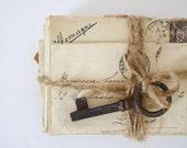 French vintage posted letters old postage old paper old letters skelton key correspondence  Paper Ephemera,