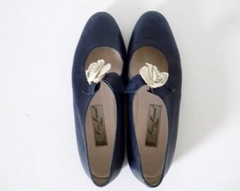 French Blue Ballerines women shoes ballerinas size 6.5 size EU 37