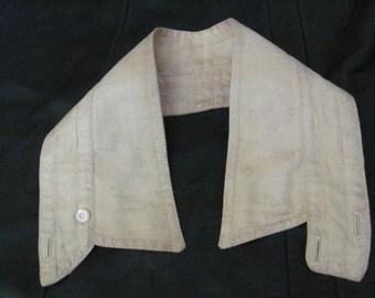 Antique Linen Men's Dress Shirt Collar Accessory Replacement Size 16