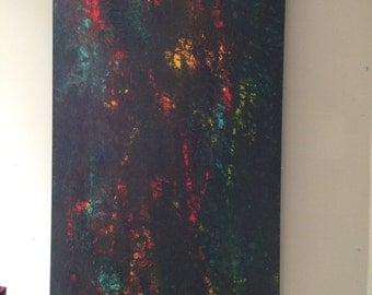 "Healing Abstract 24x48 Tao sign ""Worthwhile"""