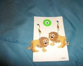 Lion King of Beasts Earrings 2