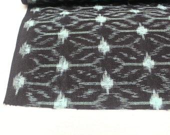 Japanese Vintage Kasuri Ikat. Woven Indigo Cotton Bolt. Traditional Folk Fabric (Ref: 1614)