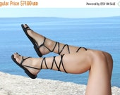 20% Lace Up Leather Handmade Sandals Barefoot Toe Ring Strappy Stylish Anklet - Pearl