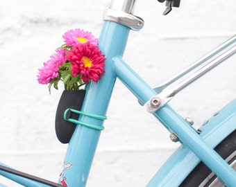 Bike Planter in Black: A Flower Vase for Your Bike