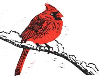 Cardinal Woodcut