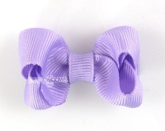 Small Hair Bow 2 Inch in Lavender Light Purple - Toddler Hairbow Non Slip Alligator Clip - for Baby Girls
