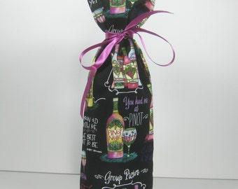 Witty Wine Sayings, Class Wrap Wine Gift Bag