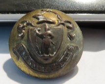 Late 1800's Indian Wars Era Massachusetts State Seal Uniform Button   MB-4