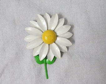Vintage Colorful 1960's daisy Flower Power Costume Jewelry Pin or Brooch