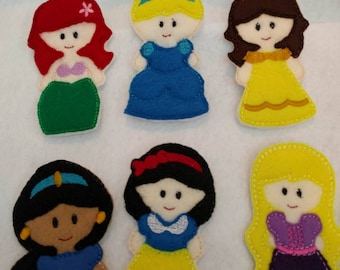 Princess Felt Finger Puppet Set