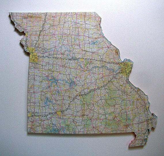 MISSOURI State Map Wall Art (Large size)