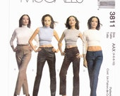 McCalls 3811 Misses Jeans Four Styles Mid Rise, Low Rise, Hip Hugger Sizes 4-6-8-10 OR  Uncut Pattern FF