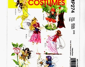 McCalls 5732 Childs Fairy Sprite Halloween Costume Szs 3-8 Uncut Sewing Pattern