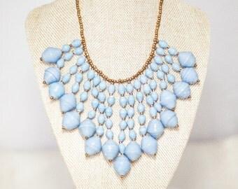 SALE Enkuba Waterfall Beaded Necklace -Icy Blue