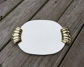 Mirror Tray Mirrored Vanity Tray Gold Tray