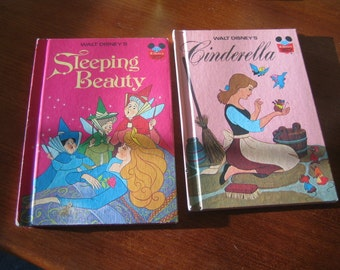 1973 Walt Disney Sleeping Beauty and Cinderella Books