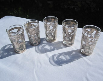 Sterling Overlay Shotglasses Made in Mexico