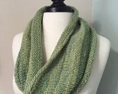Missouri Handmade Sage Green Handspun, Hand dyed, Hand Knitted Cowl