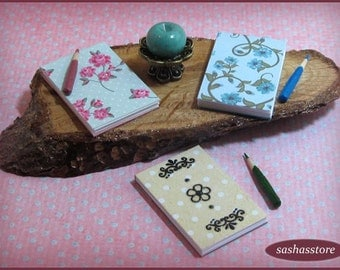 Dollhouse 12th Scale Miniature writing pad and pencil