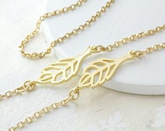 Matte Gold Leaf Eyeglass Chain, Modern Chic Eyewear Accessories, Eyeglass holder necklace, Glasses Chain, Eyeglass Lanyard, Gifts for Women