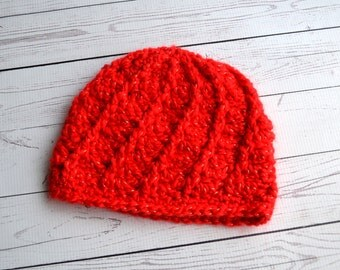 Red Twist Hat
